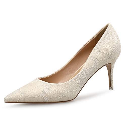 HOESCZS Frauen Schuhe Einzelne Schuhe Herbst Spitze Muster Gitter Stiletto Stiletto Stiletto Heels Flacher Mund Ol Arbeit Frauen Schuhe 628b25