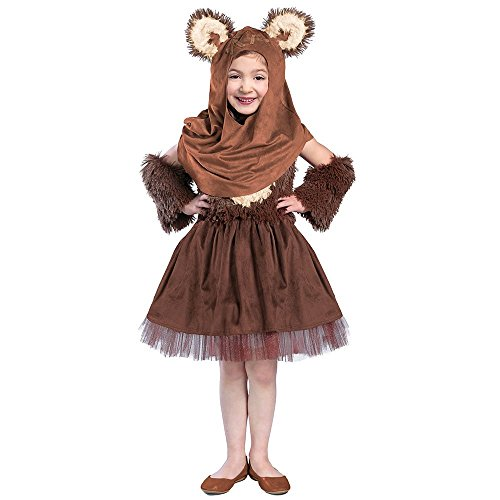 Ewok Wicket Costume (Princess Paradise Girls' Classic Star Wars Premium Wicket Dress, Brown, Small)