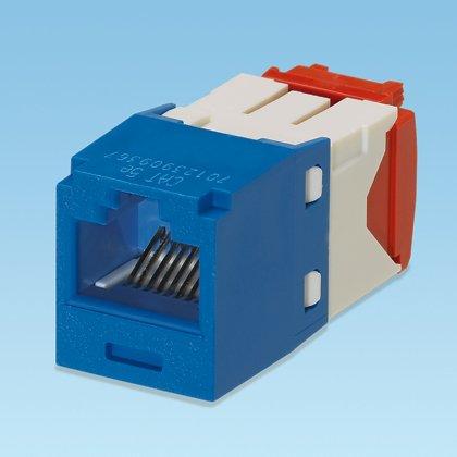 Panduit Mini-Com Cat5e Modular Jack, Blue, 24-Pack CJ5E88TGBU-24 by Panduit