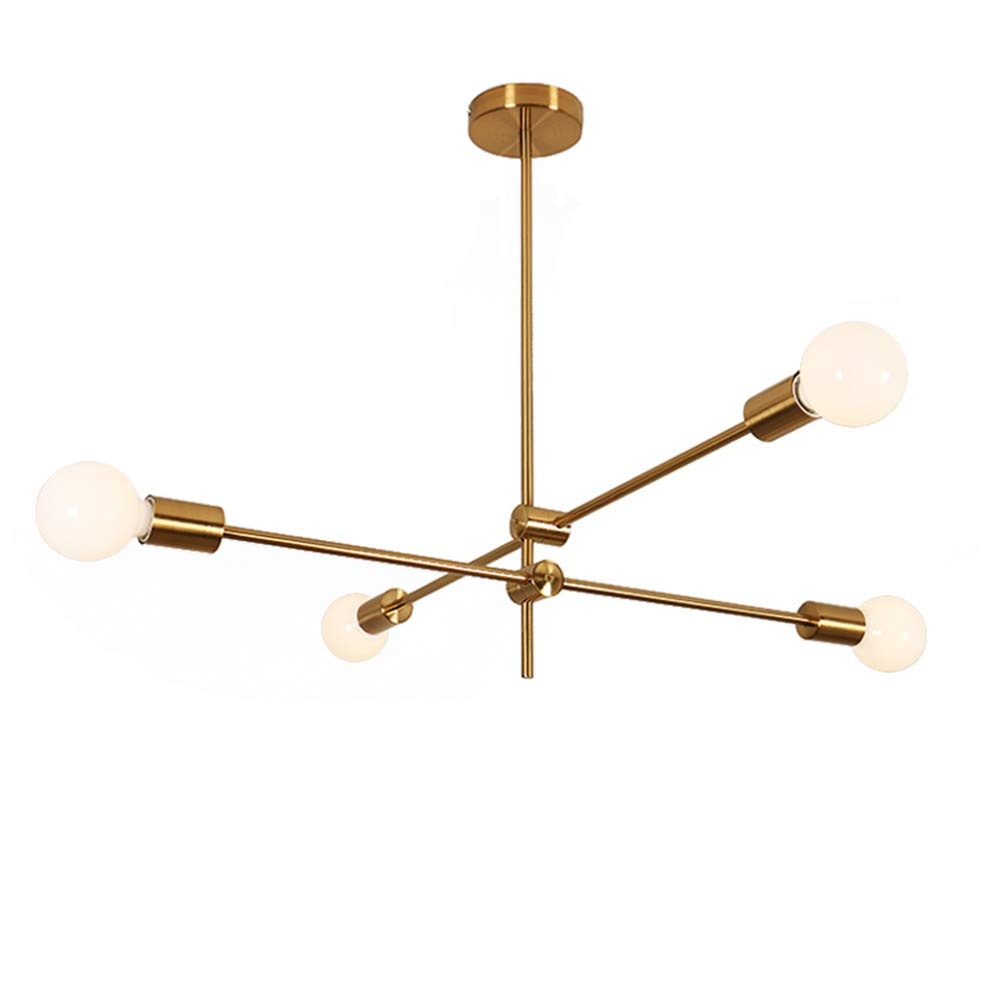 Topdeng metal decor copper chandelier e26 creative ceiling light with iron light fixture for living room bedroom restaurant 4 lights amazon com
