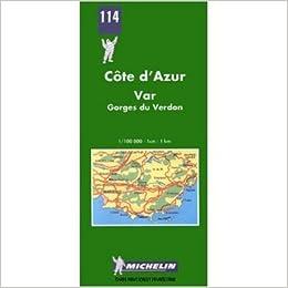 St Raphael France Map.Michelin Map No 114 Pays Varois Marseille Toulon St Raphael
