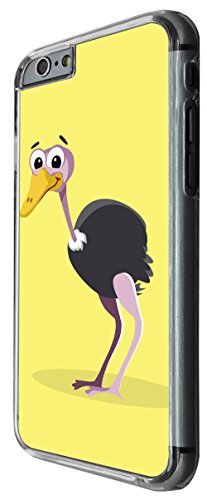 1152 - Cute Fun Ostrich Animal Drawing Yellow Design For iphone 5C Fashion Trend CASE Back COVER Plastic&Thin Metal -Clear