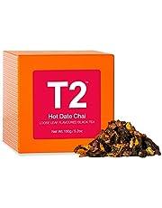 T2 Tea Hot Date Chai Black Tea, Loose Leaf Black Tea in Gift Cube, 150 g
