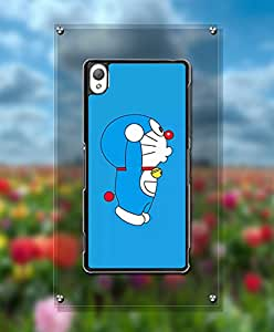 Cute Funda Case For Sony Z3 - Doraemon Cartoon Scratch Resistant Creative + Special Design Dust Proof Anti Slip Hard Shell Funda Case For Sony Xperia Z3 [Just fit for Z3]