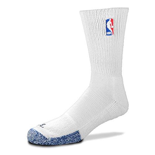 White Power Crew Socks Men's Size X-Large 13-15 (Nba Logo Socks)