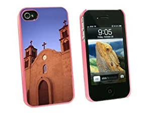 Graphics and More Old San Miguel Mission - Adobe Church New Mexico - Snap On Hard Protective Case for Apple iPhone 6 4.7 - Pink - Carrying Case - Non-Retail Packaging - Pink