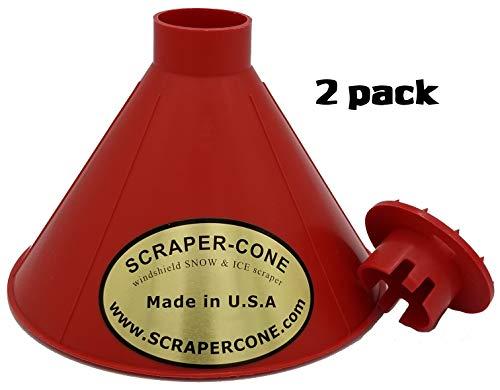 (SCRAPER CONE 2 Pack of The Original Ice Scraper Made and Sold in The USA! Scrape a Round Ice Scraper)