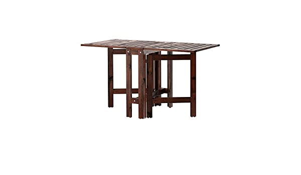IKEA APPLARO – Mesa Gateleg, marrón – 20/77/133 x 62 cm: Amazon.es ...