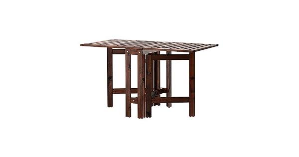 Amazon.com: IKEA APPLARO - Mesa Gateleg marrón 20/77/52.4x24 ...