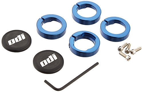 Odi Lock Jaw Bicycle Grip Lock-On Clamps with Caps (Blue) (Blue Pit Cap)