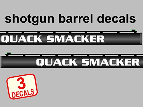 Shotgun barrel vinyl decal set