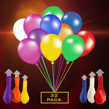 LED Balloons Light Up Balloons For Party, Birthday, Wedding, Neon Colors Lights Lasts 12-48 Hours + 150 Feet Ribbon