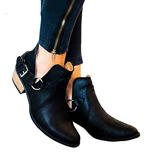 da nbsp; stivaletti nero 4 Toramo donna basso stivale Chelsea taglia scarpe UK Classic inverno Girls modelli tacco popolari da 5wAgwTx