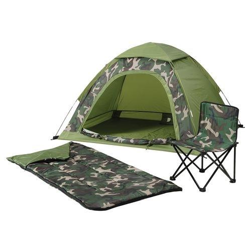 Kids 5' x 4' Camo Dome Tent, Sleeping Bag and Folding Chair