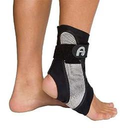 Aircast A60 Ankle Support Brace, Left Foot, Black, Small (Shoe Size: Men\'s 4 - 7 / Women\'s 5 - 8.5)