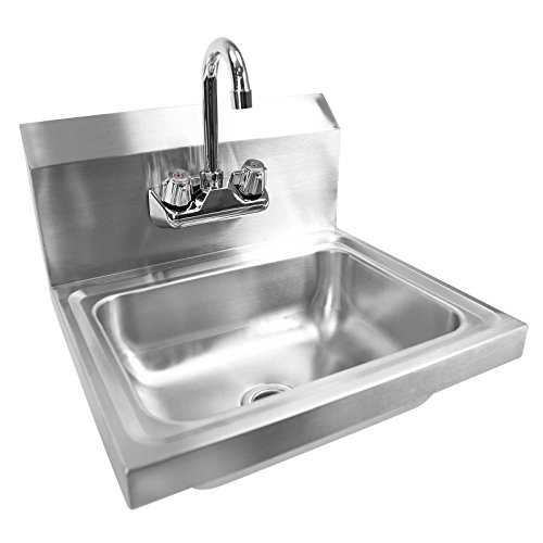 Gridmann Commercial NSF Stainless Steel Sink - Wall Mount Hand Washing Basin with Faucet (Ss Sink Hand)