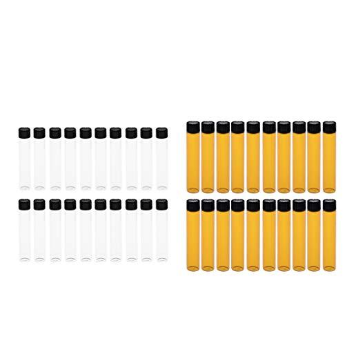 歯痛成分第九CUTICATE 40個セット エッセンシャルオイル瓶 香水ボトル ガラス製 マッサージオイルボトル 全2選択 - #1