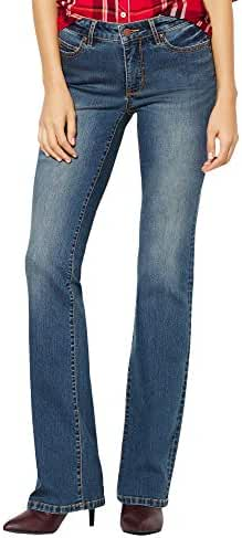 New York & Co. Soho Jeans - Curvy Bootcut - Parade Blue Wash - Petite
