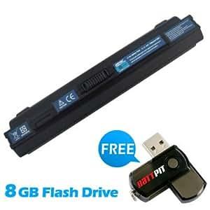 Battpit Bateria de repuesto para portátiles Acer Aspire One AO751h-1211 (6600mah / 73wh) Con memoria USB de 8GB GRATUITA