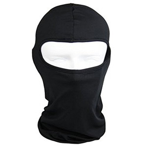 Motorcycle Cycling lycra Balaclava Full Face Mask For Sun UV Protection - Black