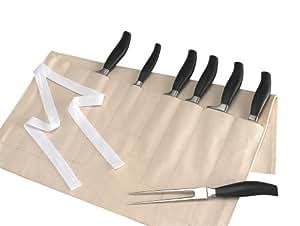 Knife Roll / Wallett 11 Pocket - Cream