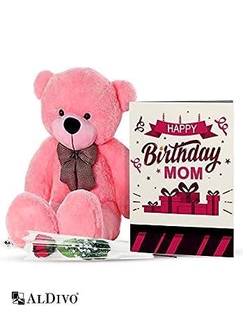 AlDivo Happy Birthday Mom Gifts Of Soft Teddy Bear Flower And Wishes