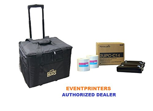 2UPC-C14 Print Pack for the Sony SNAPLAB Photo Printer ( paper and ribbon ) - BUNDLE - WITH OUR PRINTER CARRYING CASE by DNP and PRINTERBAG