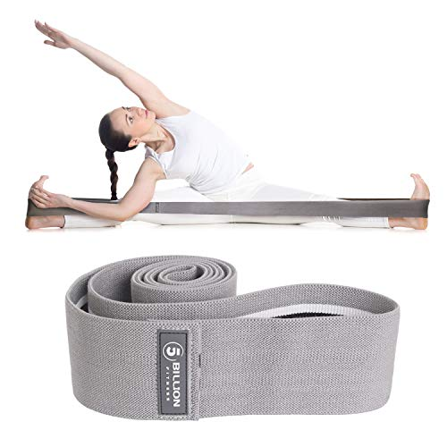 5BILLION Resistance Hip Exercise Band 42inch x 3inch Extra Long - for Booty, Thigh & Glutes - Soft & Non-Slip Design Loop Set (Gray)