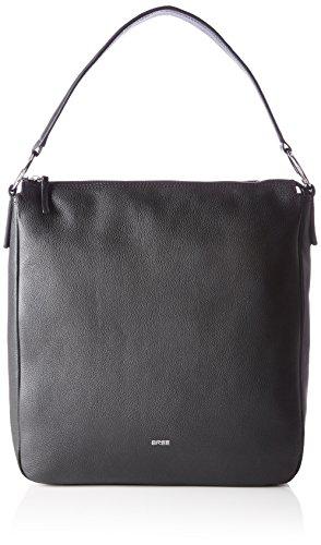BREE Cary 6, Black, Hobo M W17 - Borse a spalla Donna, Schwarz (Black), 11x34x33 cm (B x H T)