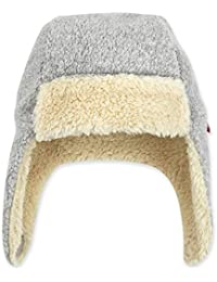 Zutano Fleece Trapper Hat with Faux Fur, Heather Gray, 24M
