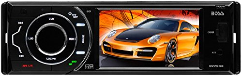 BOSS AUDIO BV7943 Single-DIN 3.6 inch Touchscreen DVD Player Receiver, Detachable Front Panel, Wireless Remote