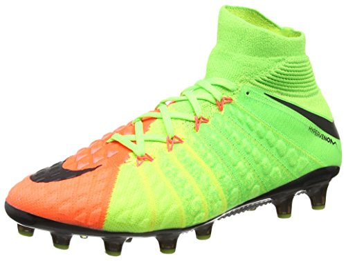Nike Hypervenom Phantom 3 Df Ag-Pro, Zapatillas de Fútbol para Hombre, Verde (Electric Green/Hyper Orange/Volt/Black), 39 EU