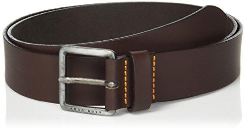 Boss Orange Men's Jeeko Italian Leather Belt, dark brown,US 36
