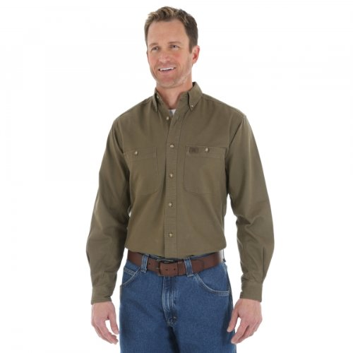 RIGGS WORKWEAR by Wrangler Men's Big and Tall Logger Shirt,Forest Green,3X-Large Tall (Workwear Riggs)