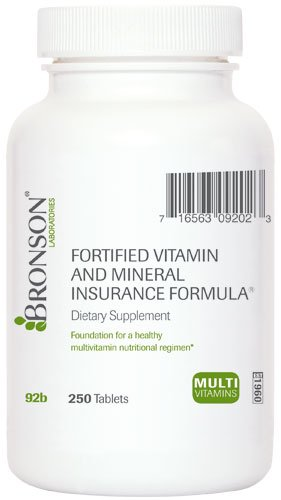 Fortified Vitamin and Mineral Insurance Formula (250)