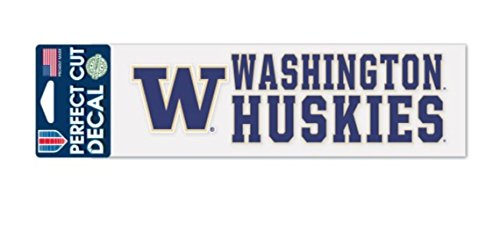 WinCraft NCAA Washington Huskies 3 x 10 inch Perfect Cut Decal