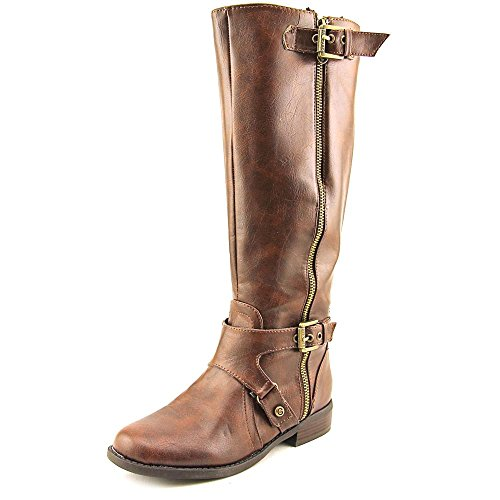 G By Guess Women's Hertle 2 Wide Calf Knee High Riding Boots, Brown, Size 7.5