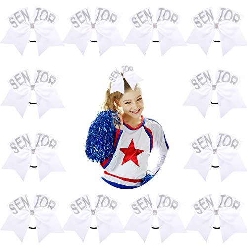 DEEKA Glitter Senior Cheer Hair Bows 12PCS 6