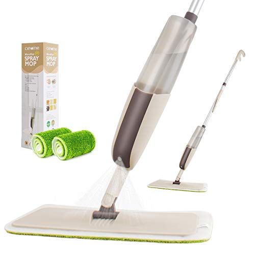 Spray Mop for Floor Cleaning, CXhome Hardwood Floor Mop Microfiber Mop for Tile Floors Wet Jet Mop with Sprayer and 2 Mop Pads, 1 Refillable Bottle