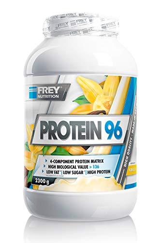 FREY Nutrition PROTEIN 96 (Vanille, 2300 g) Ideal für kohlenhydratreduzierte Diätphasen und als Zwischenmahlzeit – Hoher…