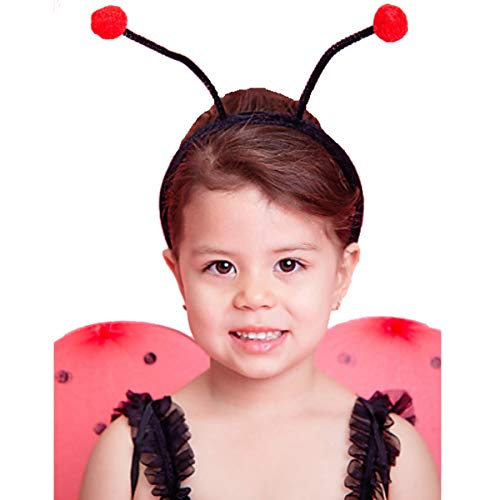CQDY Ladybug Wings & Antenna Halloween Costumes Set Cute Headband Dress-up Theme Occasion ()