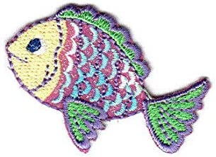 IRON ON EMBROIDERED PATCH SEA CREATURES SEAFISH OCEAN