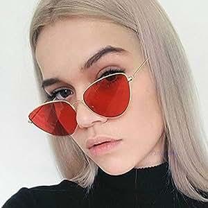 Amazon.com : AAMOUSE Sunglasses Retro Red Sunglasses Women
