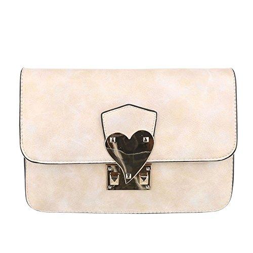 Ital-DesignSchultertasche Bei Ital-design - Bolso de hombro Mujer beige