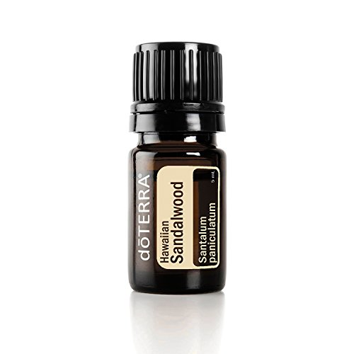 (doTERRA - Hawaiian Sandalwood Essential Oil - Promotes Healthy-Looking, Smooth Skin, Enhances Mood, Grounding and Uplifting Properties for Meditation; for Diffusion, Internal, or Topical Use - 5 mL)