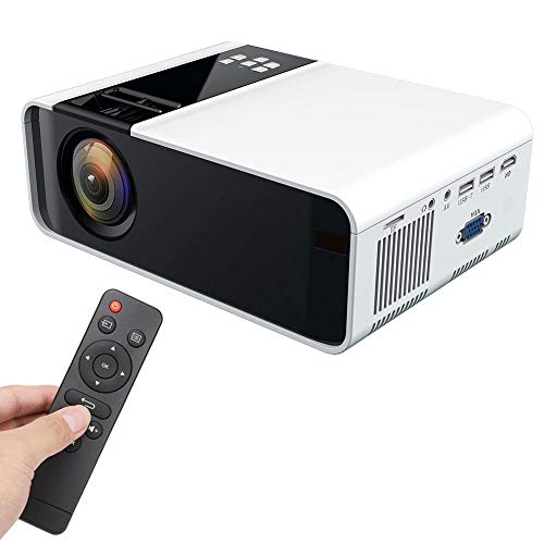 Hakeeta 3D Projector, Ultra-HD 1280 720P 4K 5000 lumens Projector Support WiFi/Bluetooth Connection.Compatible with USB/HDMI/YGA/Headphone Interface/AV/KTV/Audio(US) from Hakeeta
