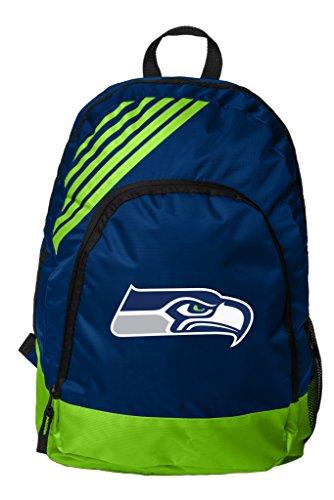 NFL Seattle Seahawks Border Stripe Backpack Sports Fan Home Decor, Green, One Size