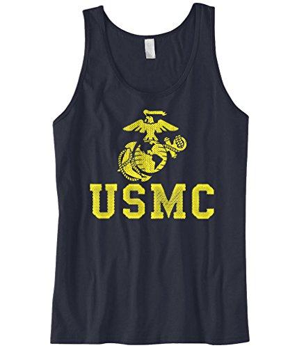 Navy Marine Corps Memorial - Cybertela Men's United States Marine Corps USMC Tank Top (Navy, 2X-Large)