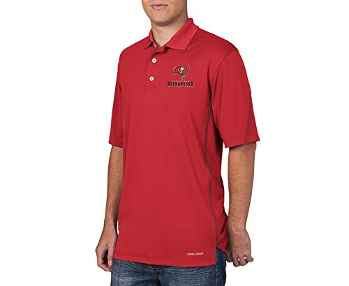 """Tampa Bay Buccaneers Majestic """"Field Classic"""" Men's Cool Base Polo Shirt - Red"""