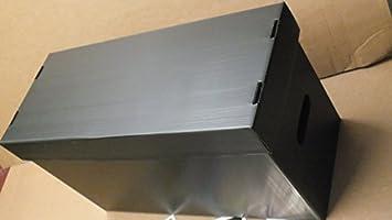 3x caja de almacenamiento de cómic de nueva negro plástico de acabado